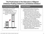 the predicament of the education of migrant children floating children left behind children