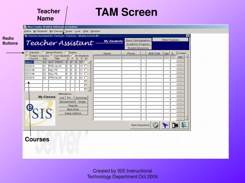 TAM Screen