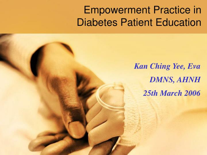 empowerment practice in diabetes patient education n.