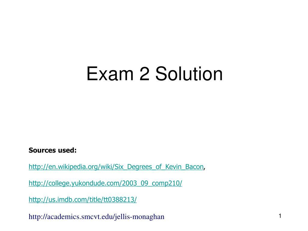 exam 2 solution l.