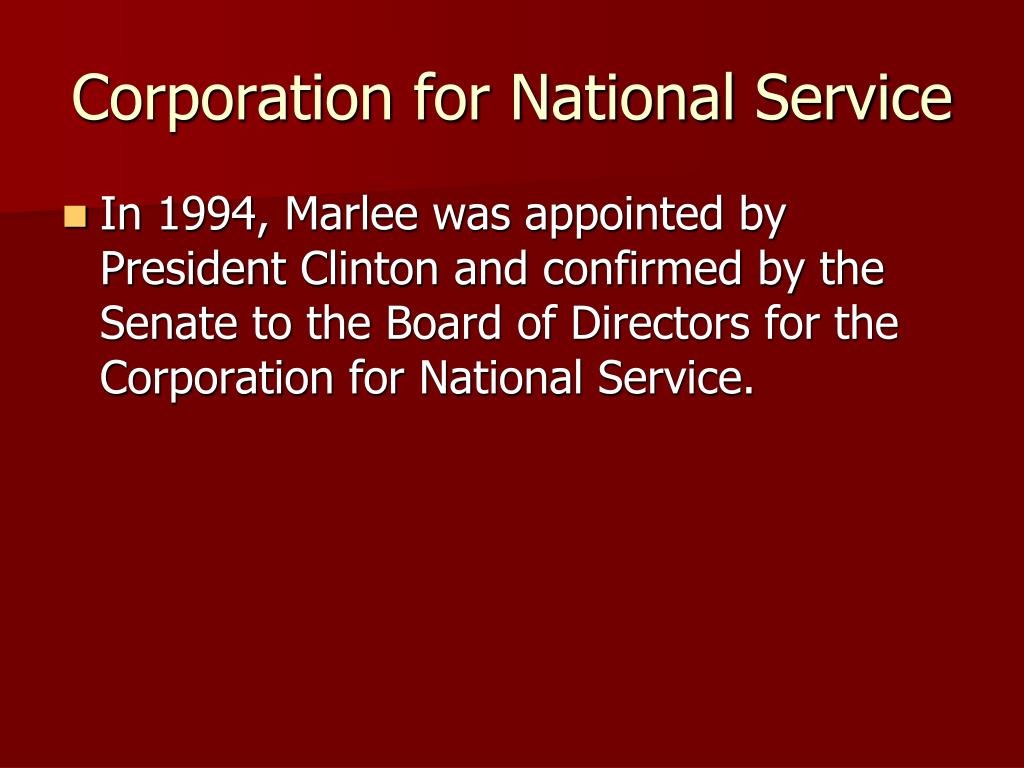 Corporation for National Service