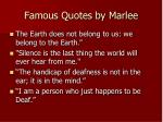 famous quotes by marlee
