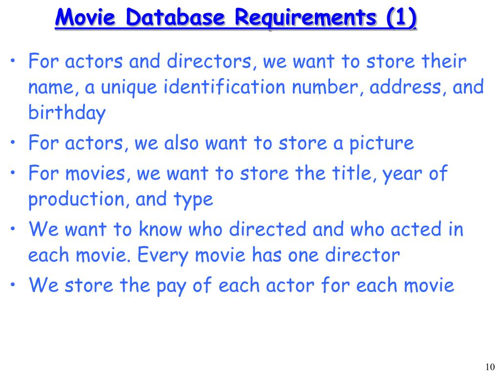 Movie Database Requirements (1)