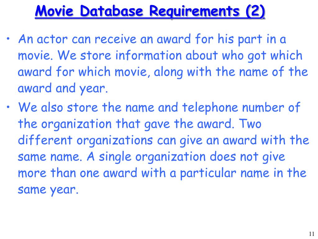 Movie Database Requirements (2)