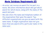 movie database requirements 2