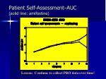 patient self assessment auc solid line amifostine