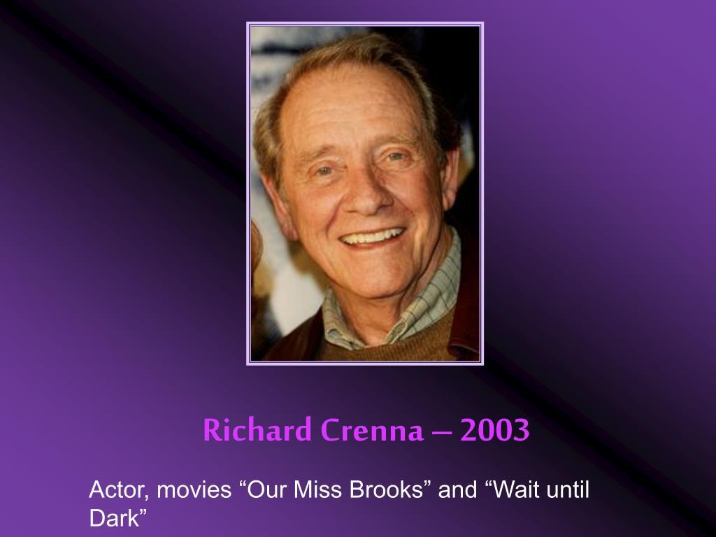 Richard Crenna – 2003