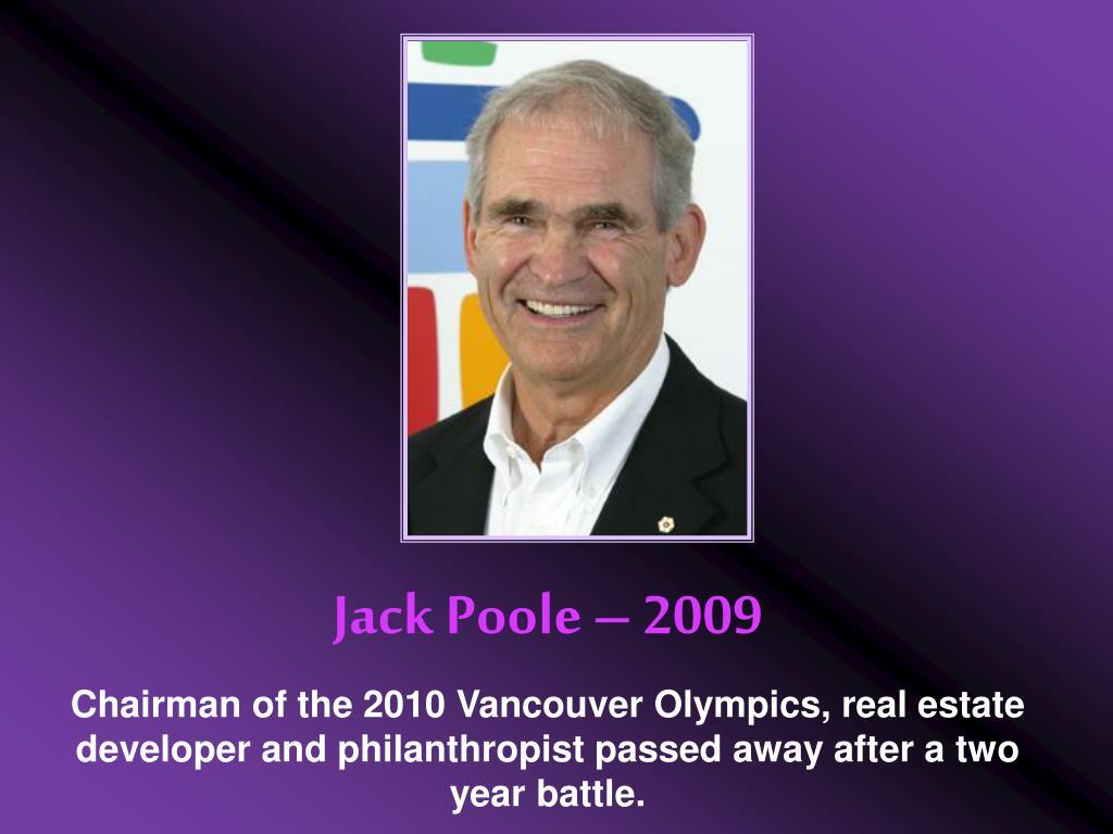 Jack Poole – 2009