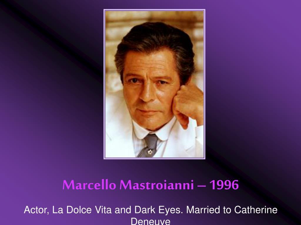Marcello Mastroianni – 1996
