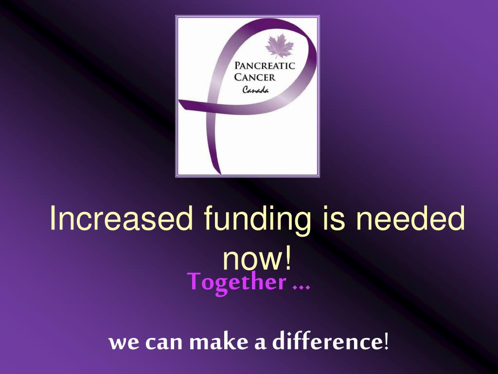 Increased funding is needed now!