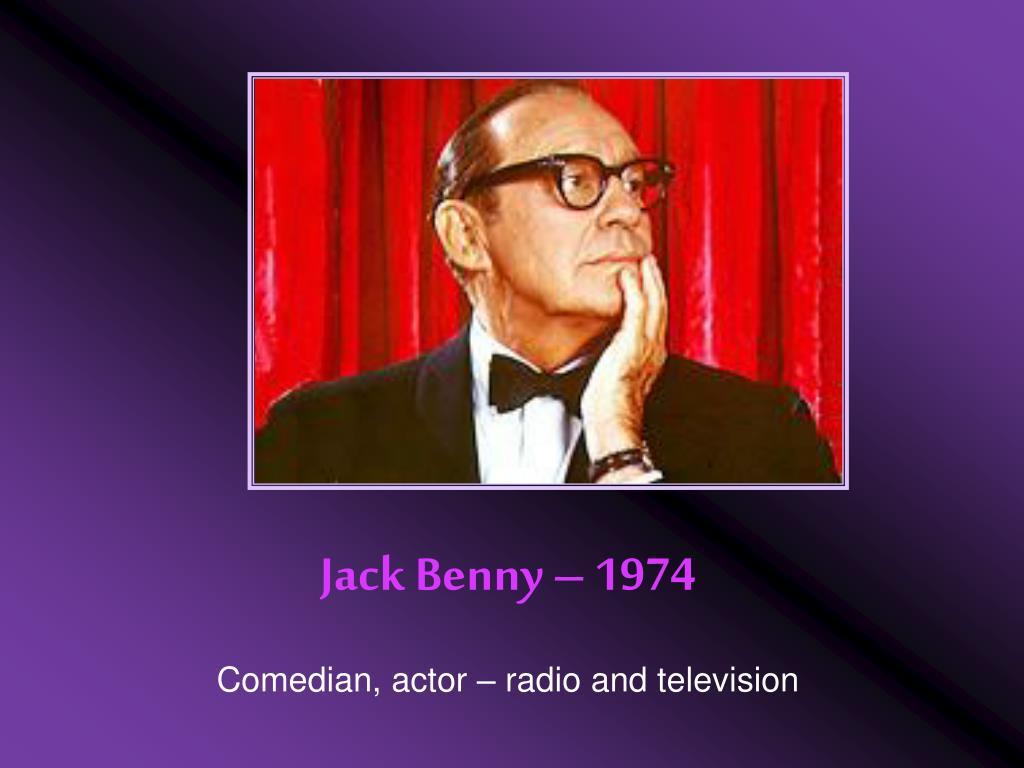 Jack Benny – 1974