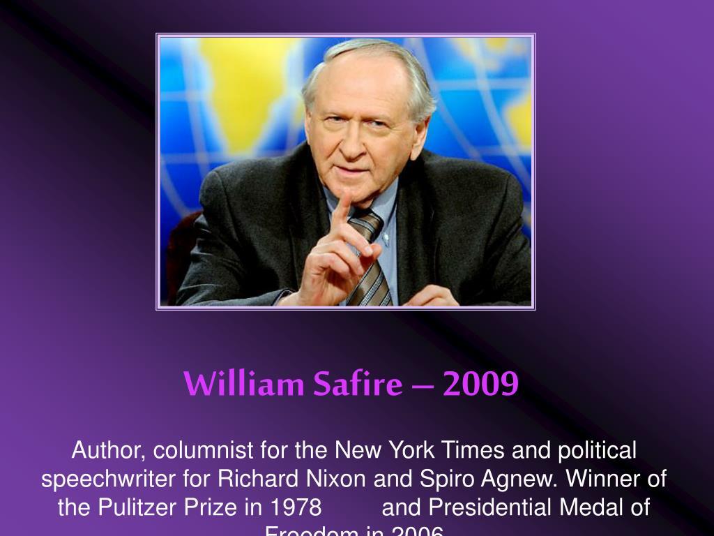 William Safire – 2009