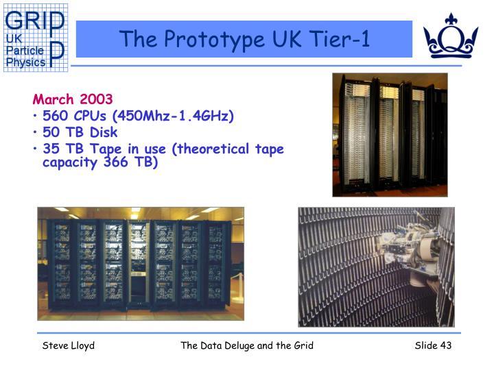 The Prototype UK Tier-1