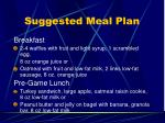 suggested meal plan
