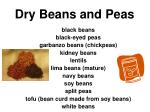 dry beans and peas32