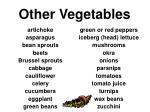 other vegetables34