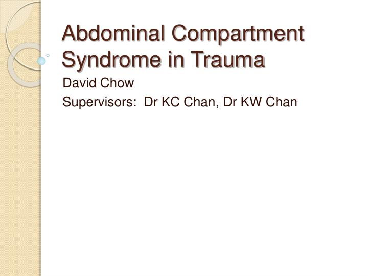 case study on compartment syndrome