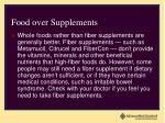 food over supplements