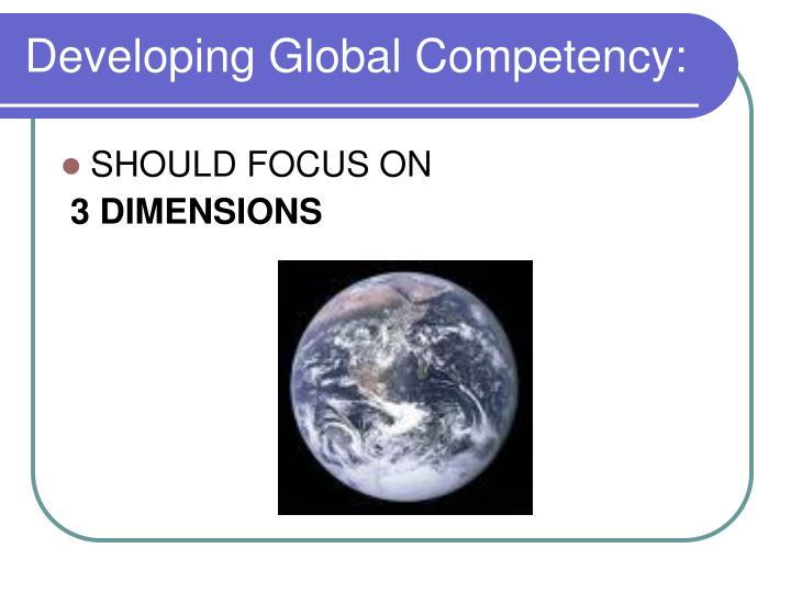 Developing Global Competency: