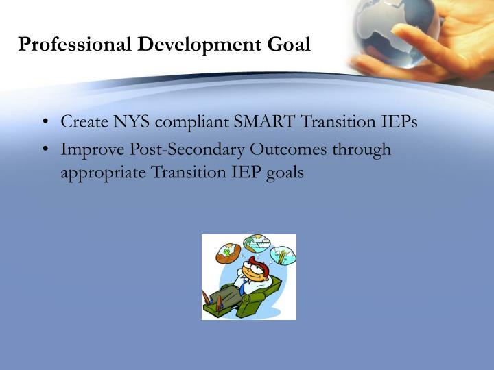 Professional development goal