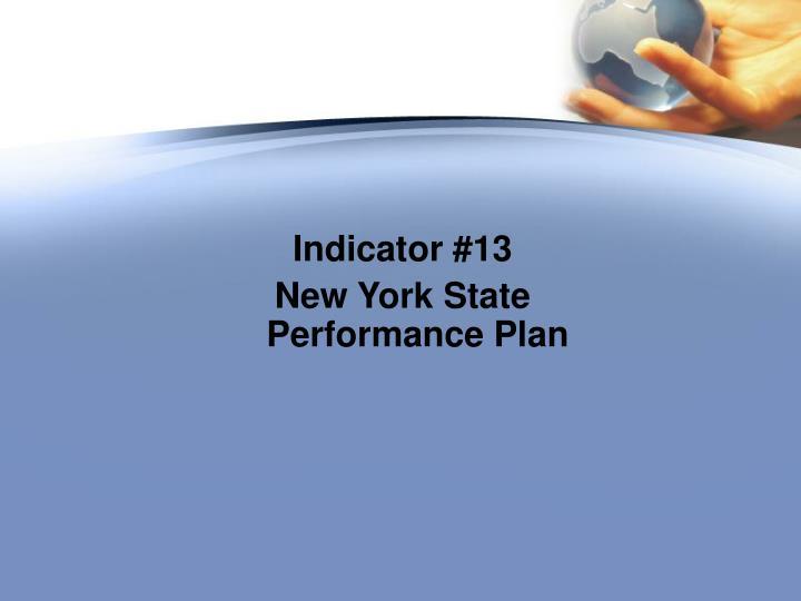 Indicator #13