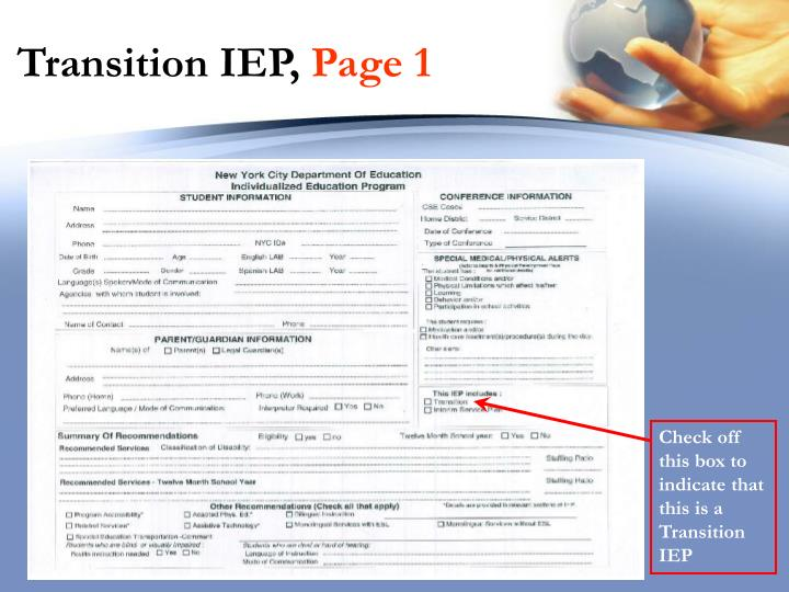 Transition IEP,