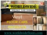 vinyl floor care products