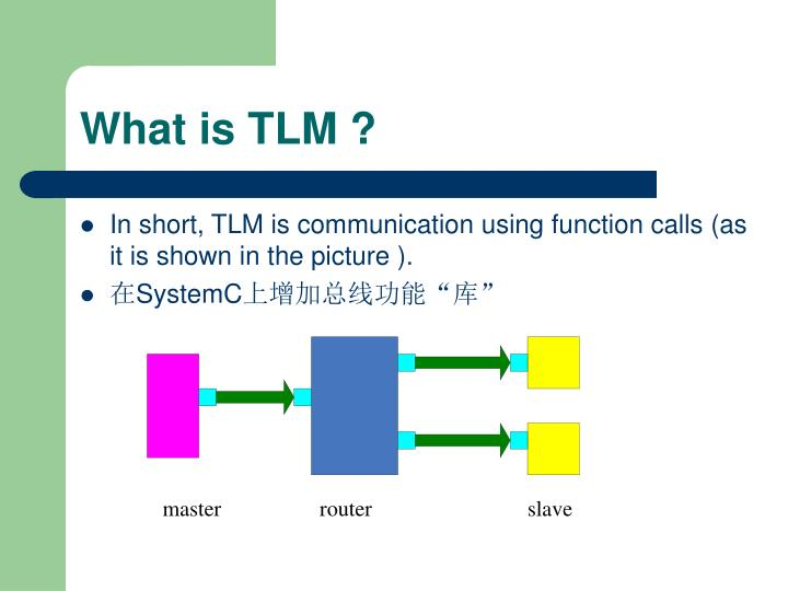 What is tlm