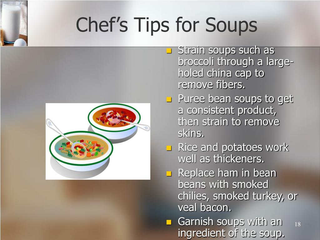 Chef's Tips for Soups