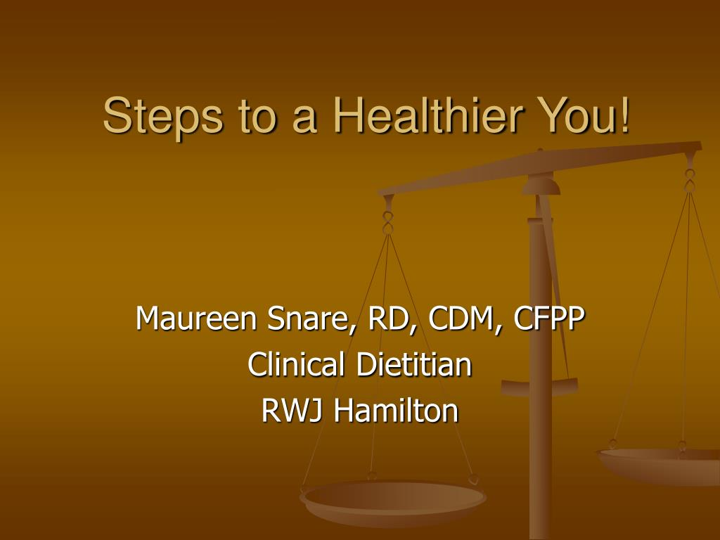 steps to a healthier you l.