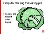 5 steps for cleaning fruits veggies