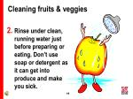 cleaning fruits veggies