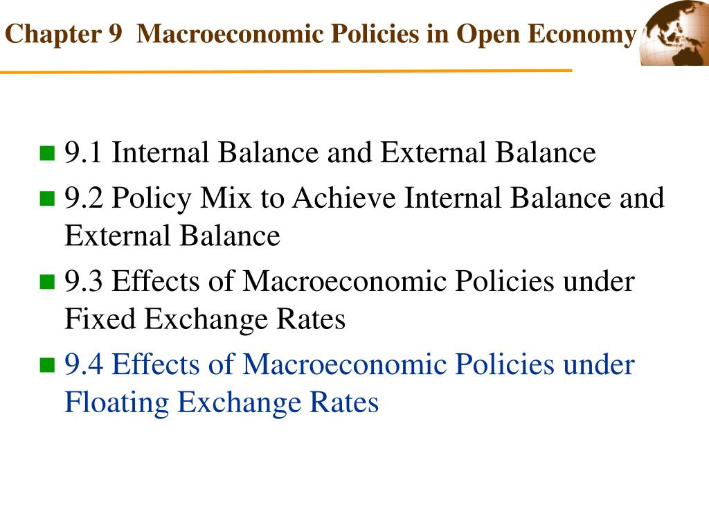 PPT - Macroeconomic Policies in Open Economy PowerPoint
