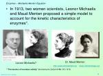 enzymes michaelis menton equation