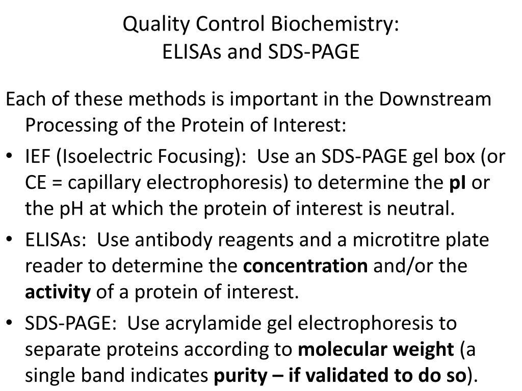 Quality Control Biochemistry: