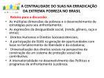 a centralidade do suas na erradica o da extrema pobreza no brasil