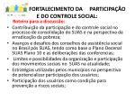fortalecimento da participa o e do controle social