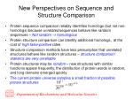 new perspectives on sequence and structure comparison
