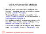 structure comparison statistics