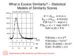 what is excess similarity statistical models of similarity scores