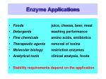 enzyme applications