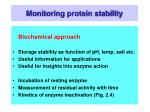 monitoring protein stability39