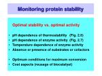 monitoring protein stability41