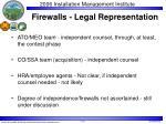firewalls legal representation
