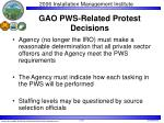 gao pws related protest decisions
