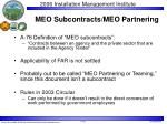 meo subcontracts meo partnering
