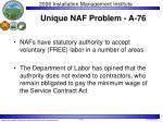 unique naf problem a 76