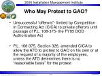 who may protest to gao