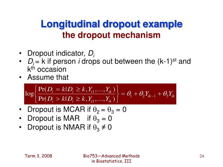 Longitudinal dropout example