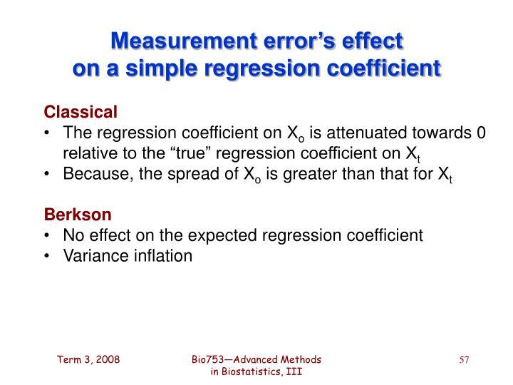 Measurement error's effect